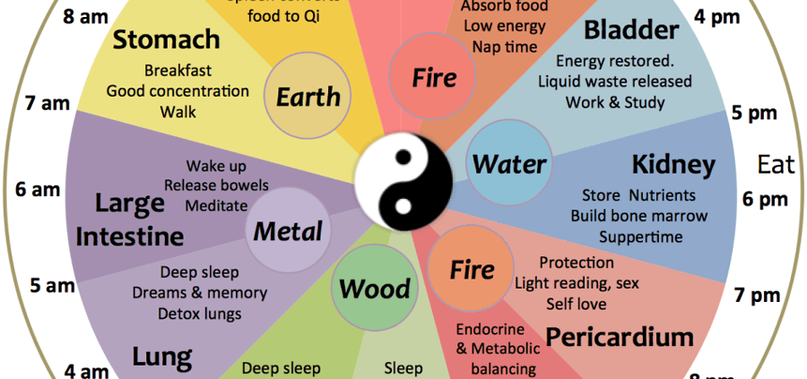 The 24-Hour Body Clock of Chinese Medicine